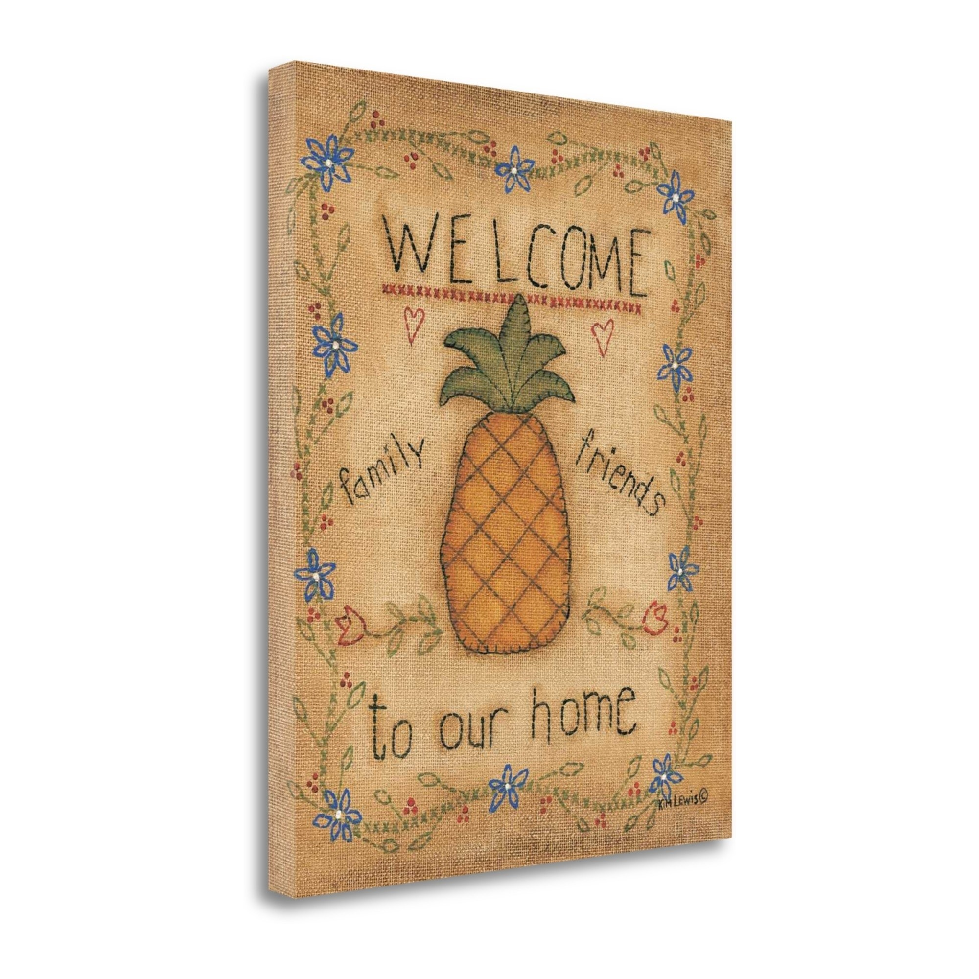 Tangletown Fine Art Pineapple Graphic Art Print On Canvas Walmart Com Walmart Com