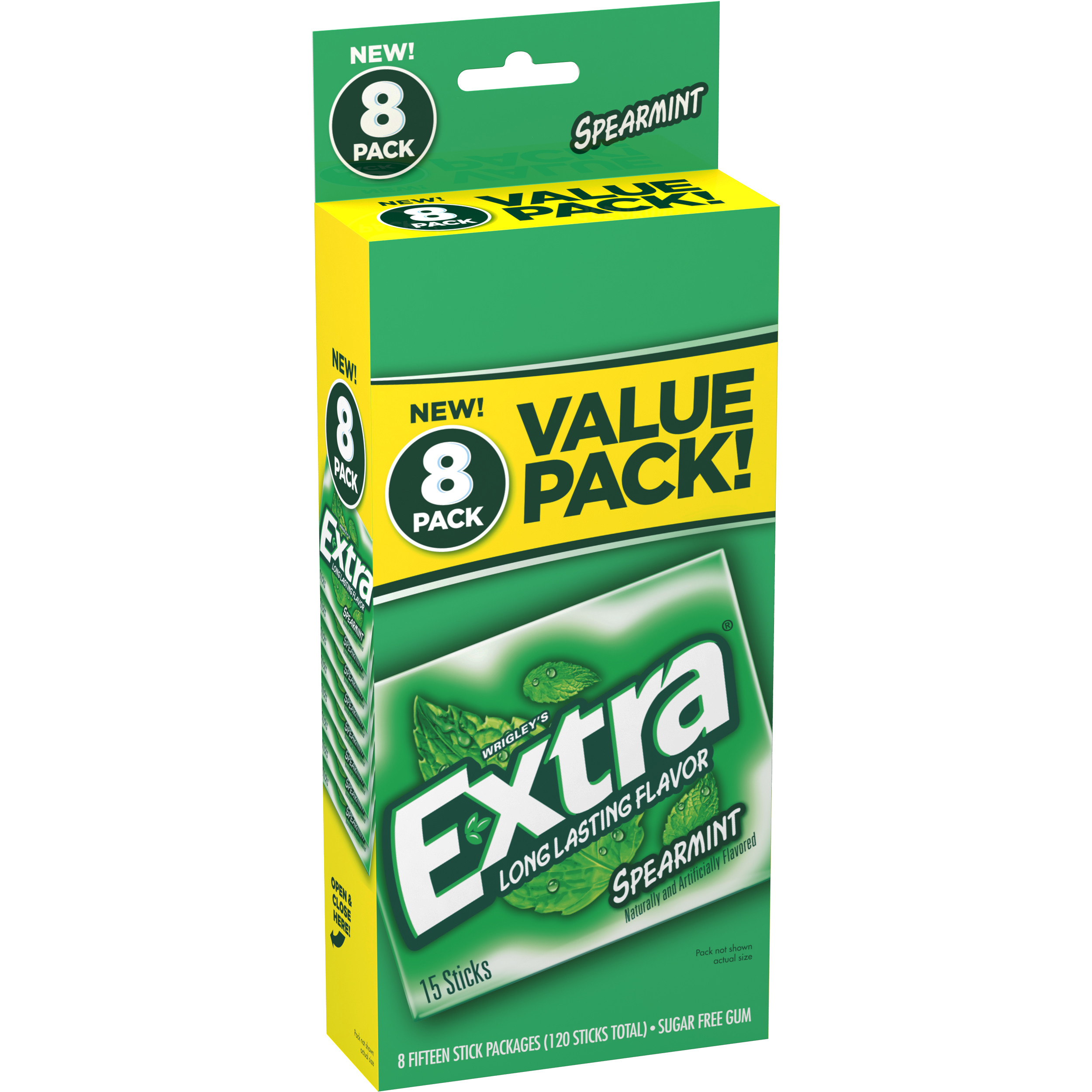 Extra Spearmint Sugarfree Gum, value pack (8 packs total)