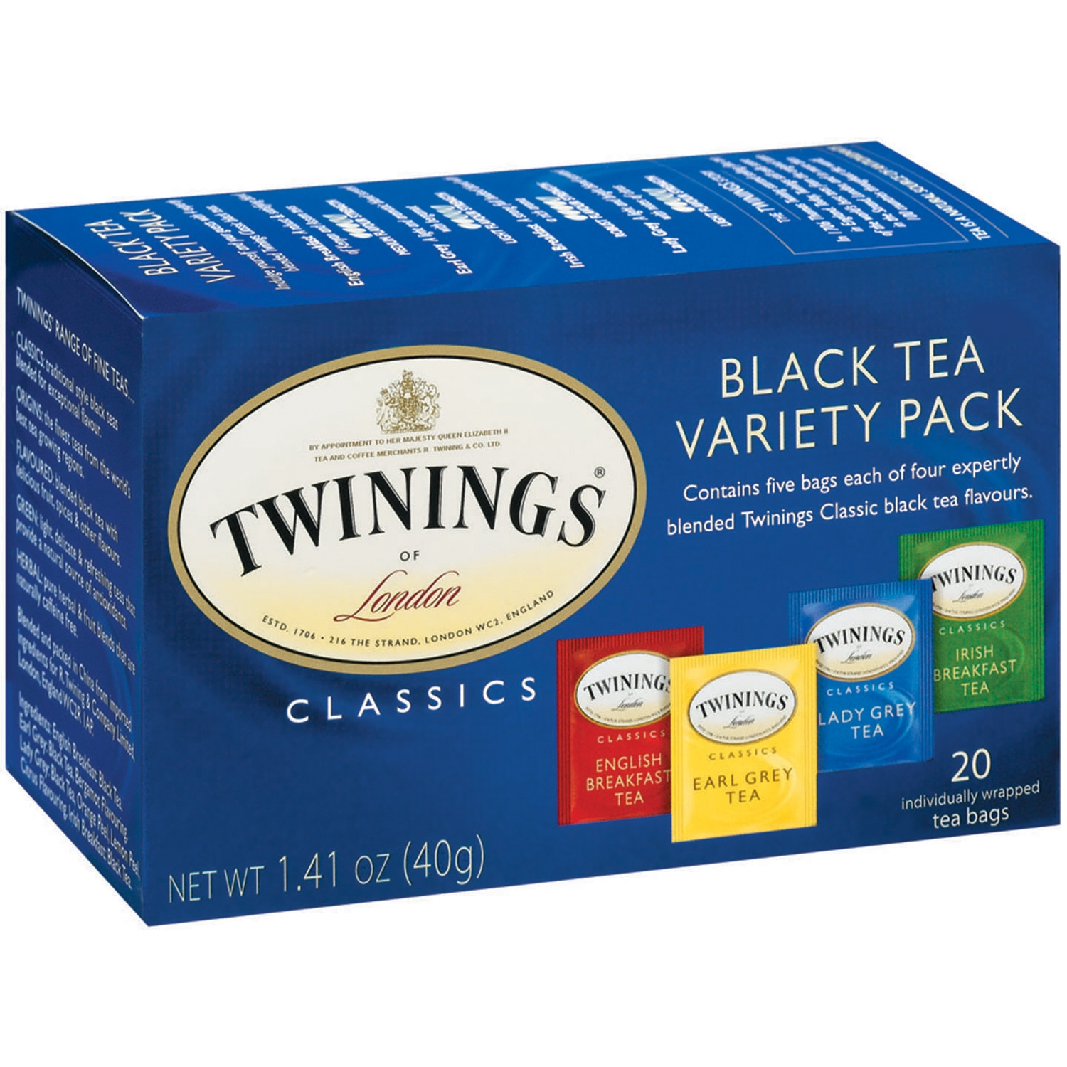 (4 Pack) Twinings Of London Variety Pack Black Tea Bags, 20 Ct