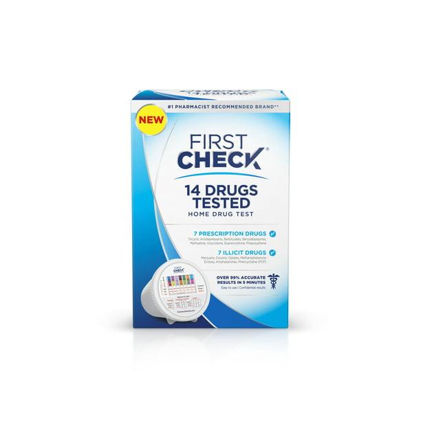 First Check 14 Panel At Home Drug Test 1 Ct Walmart Com Walmart Com