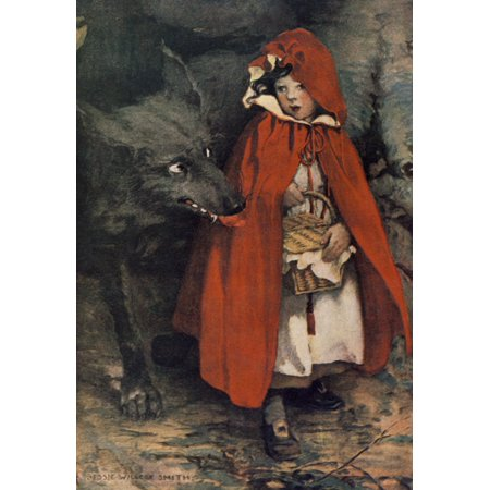- A Childs Book of Stories 1911 Little Red Riding Hood Canvas Art - Jessie Willcox Smith (24 x 36)