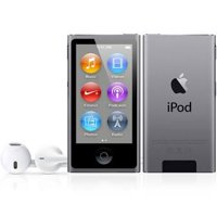 Apple iPod Nano 7th Generation 16GB Space Gray, (Latest Model) New in Plain White Box (ME971LL/A)