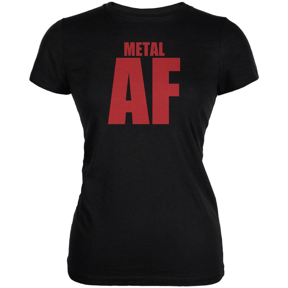 Metal AF Black Juniors Soft T-Shirt