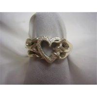 Hotrod Rocks HRR-005R Ladies Flaming Heart Ring, Size 8