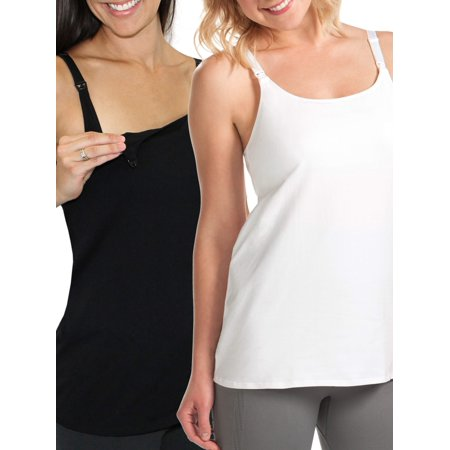 Maternity Nursing Cami with Built-In Shelf Bra 2 Pack, Style L319