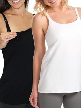 5b90b355ff3 Product Image Maternity Nursing Cami with Built-In Shelf Bra 2 Pack, Style  L319