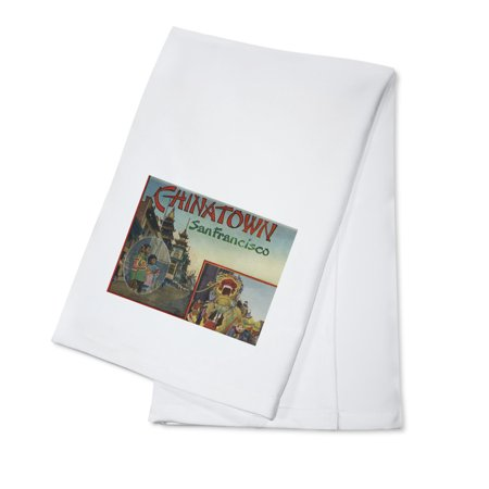 Greetings From Chinatown - San Francisco, CA Dragon Parade (100% Cotton Kitchen Towel) - Parade Halloween San Francisco