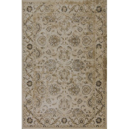 Astoria Grand Bailor Brown/Ivory/Gold Area Rug