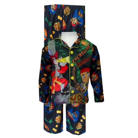 jake and the neverland pirates button front toddler pajamas