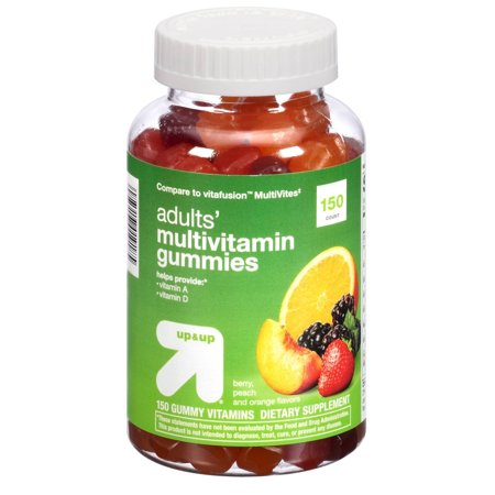 Seulement 1 Gummy multivitamines PACK Up & Up Adult Comparer à saveur de fruits VitaFusion Multivites 150 Ct.