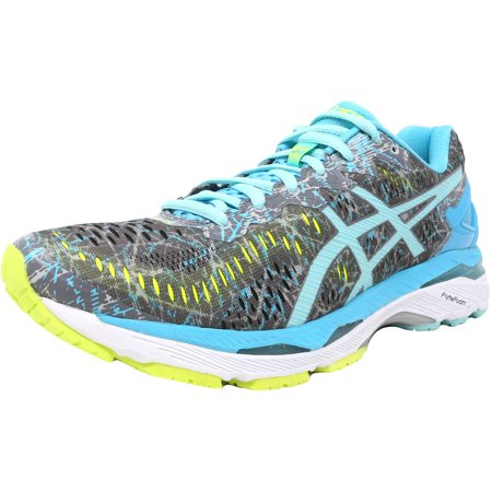 76eae7a69271 Asics - Asics Women s Gel-Kayano 23 Shark   Aruba Blue Aquarium Ankle-High Running  Shoe - 10M - Walmart.com