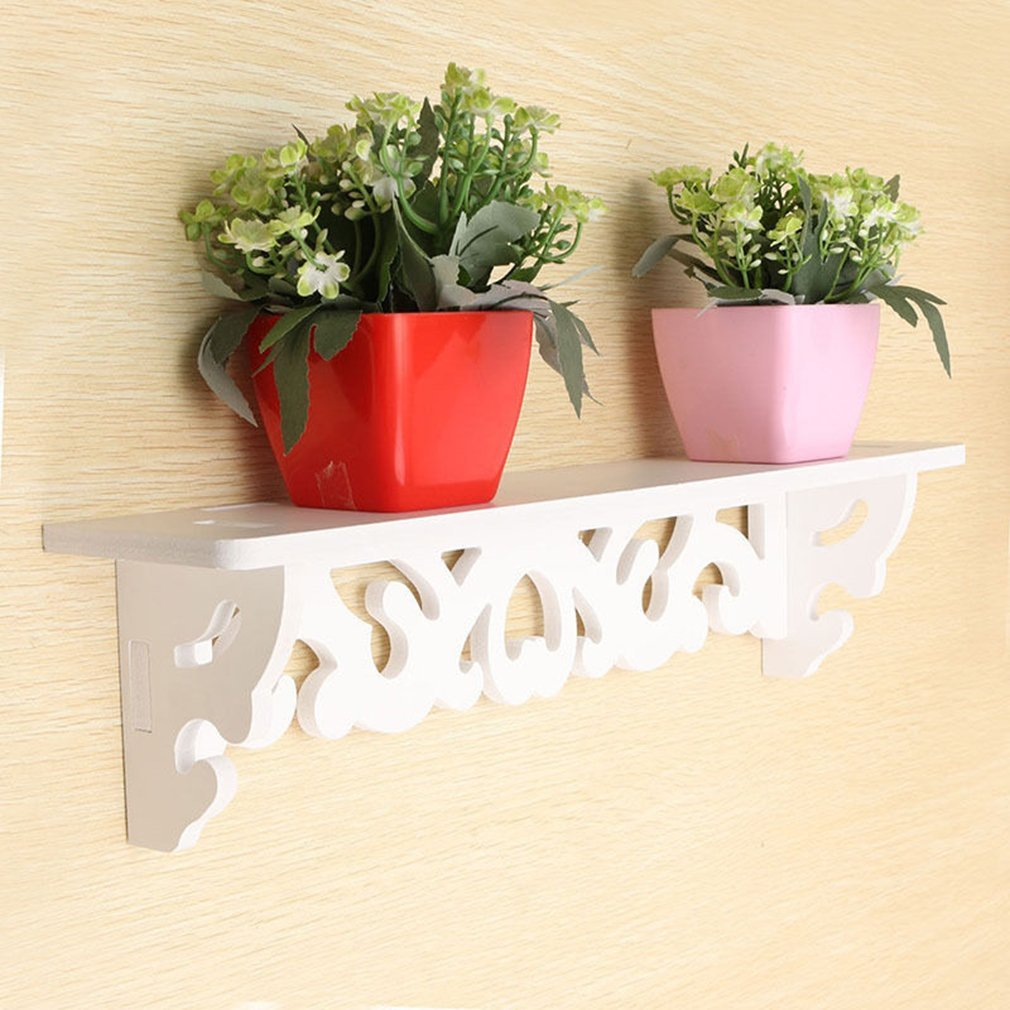 White Wall Hanging Shelf Goods Convenient Rack Storage Holder Home