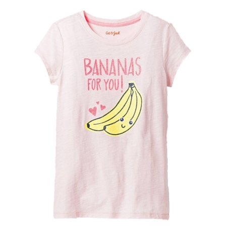 Girls Pink Bananas For You Valentines Day Tee Shirt Heart T-Shirt](Valentines For Girls)