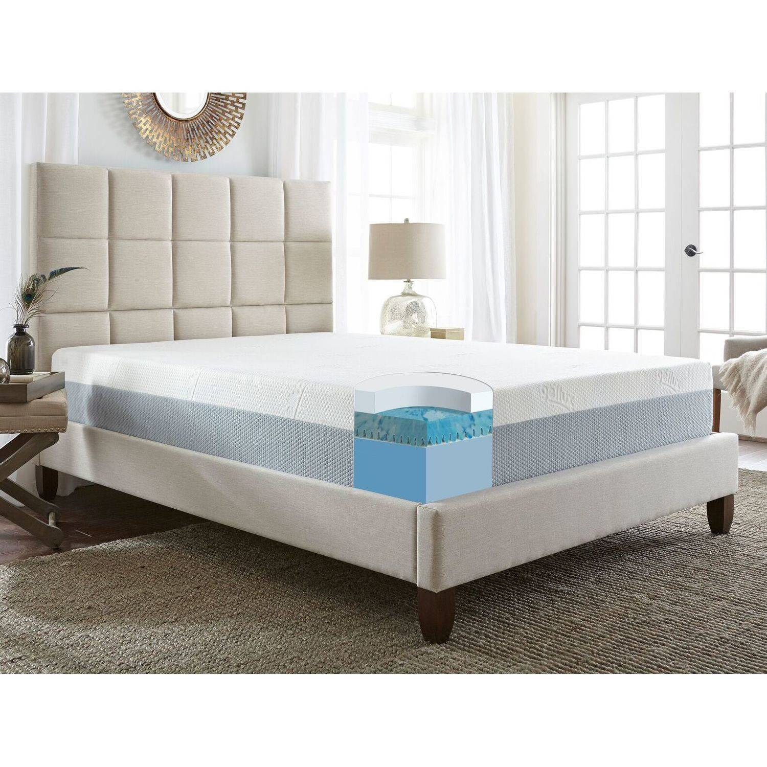 Contura III - 12'' Medium Firm Memory Foam Mattress, Multiple Sizes