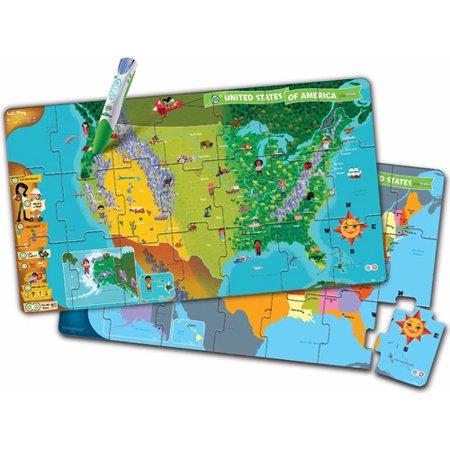 Leap Frog Tag United States Map Jumbo Puzzle - Walmart.com