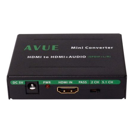 Avue HDMI-A011 Hdmi Audio Extractor Spdif+ R/lperp Analog Audio Output