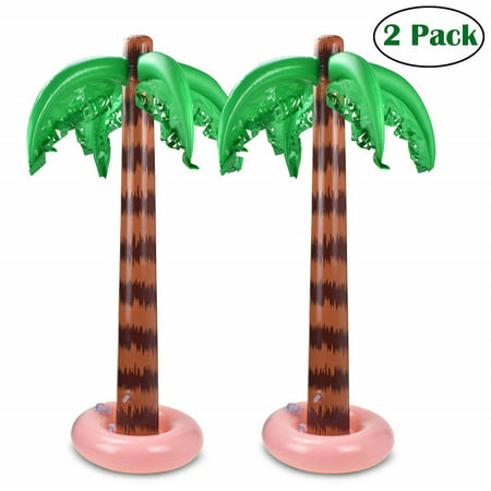 Palm Tree Toy - Inflatable Palm Trees 90 CM Coconut Trees Beach Backdrop Favor for Tropical Hawaiian Luau Party Decoration - 2 Pack](Hawaiian Luau Games)