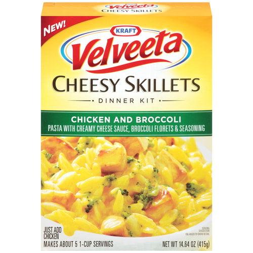 Kraft Chicken & Broccoli Velveeta Cheesy Skillets, 14.64 oz