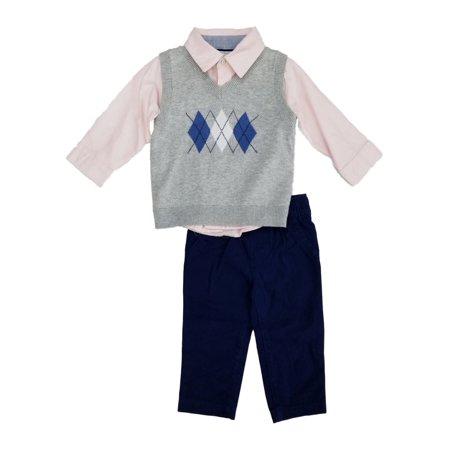 819ed394 Carters - Carters Infant Boys 3-Piece Easter Outfit Sweater Vest Shirt &  Pants - Walmart.com