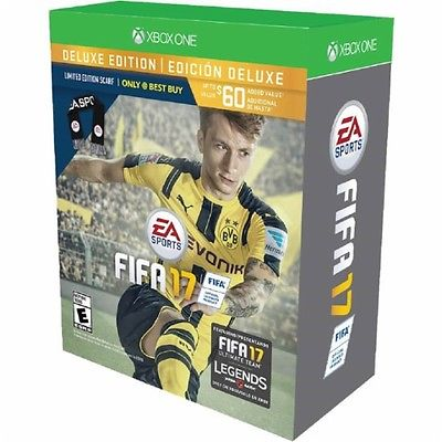 FIFA 17 Deluxe LIMITED EDITION SCARF [Microsoft Xbox One] BRAND NEW SEALED
