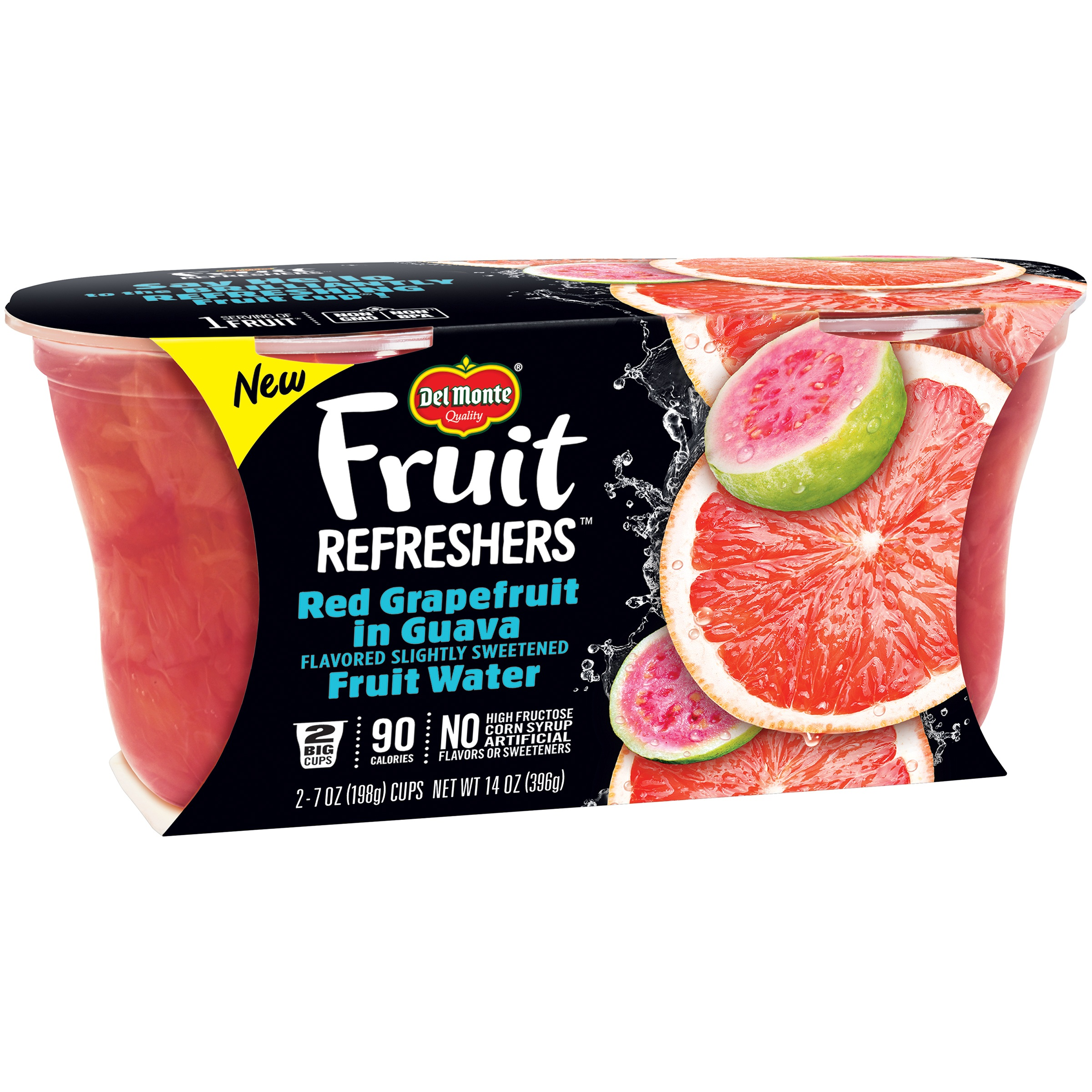 Del Monte? Fruit Refreshers? Red Grapefruit in Guava Flavored Slightly Sweetened Fruit... by Del Monte Foods