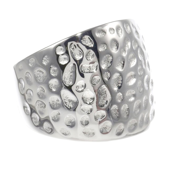 Metro Jewelry Stainless Steel Texture Ring