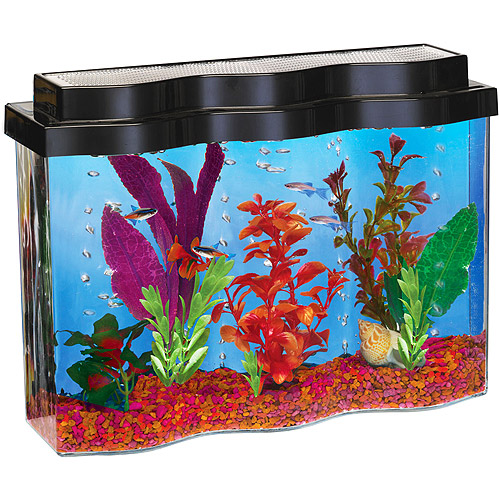 Hawkeye AquaWave 2.5gal Aquarium with Hood, UGF & Pump