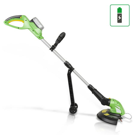 SereneLife PSLCGM25 - Cordless Trimmer Weed Whacker - Electric Grass Edger String Trimmer with 18V Battery, Replaceable String Cutter