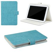 "JAVOedge Blue Waves Pattern Universal Book Case for 7-8"" Tablets, iPad Mini, Samsung Tab, Nexus 7, Nook HD and More"