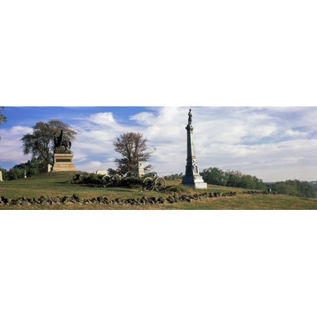 Major General Winfield Scott Hancock Equestrian Monument at Gettysburg National Military Park Gettysburg Pennsylvania USA Canvas Art - Panoramic Images (6 x 18) - Winfield Halloween