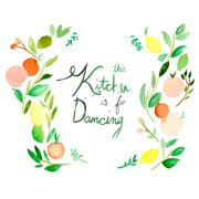 Mai Autumn This Kitchen is for Dancing by Christine Lindstrom Painting Print