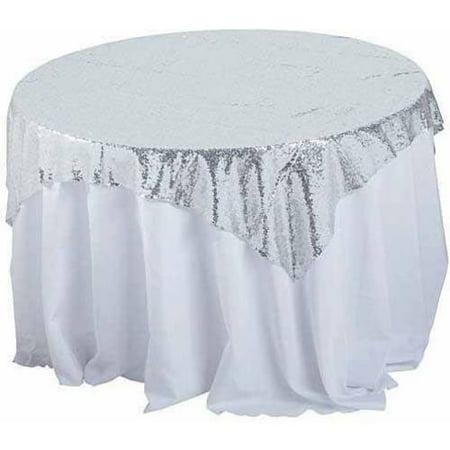 (Shindigz Sequin Fabric Table Overlay, 58