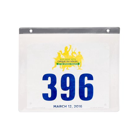LISH 24 Pack Clear PVC Race Marathon Sport Bib Insert Display Protector Sleeves (Clear Insert)