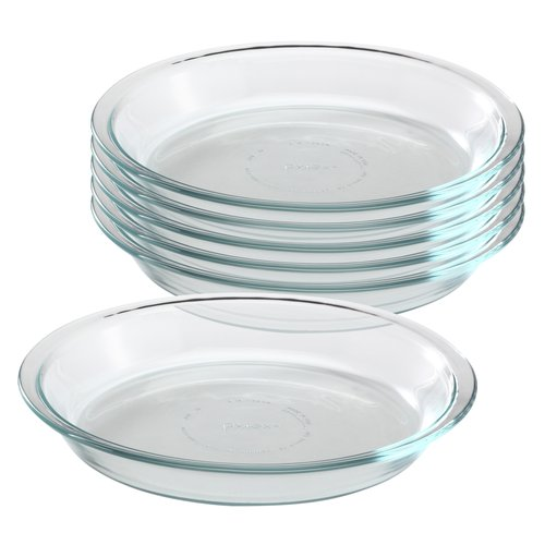 Pyrex Glass Bakeware 9-inch Pie Plate, Set of 6