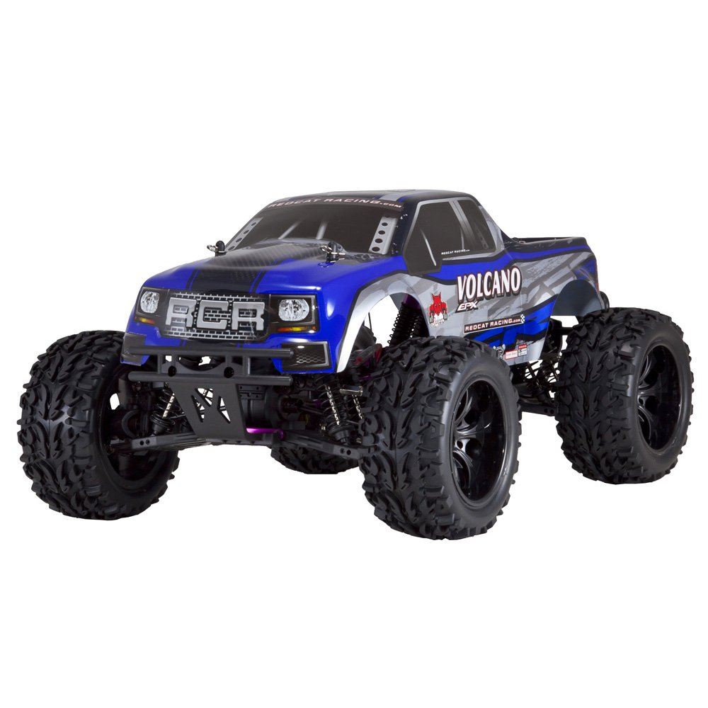 Redcat Racing Volcano EPX 1:10 Scale Electric Brushed 19T RC Monster Truck, Blue by Redcat Racing