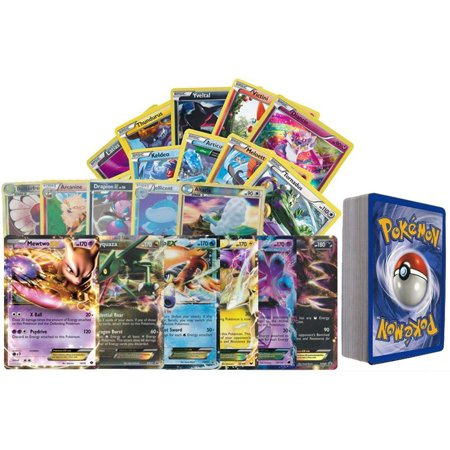 100 Assorted Pokemon Cards with Foils and 2 Ultra Rare Legendary (Top 10 Best Legendary Pokemon)