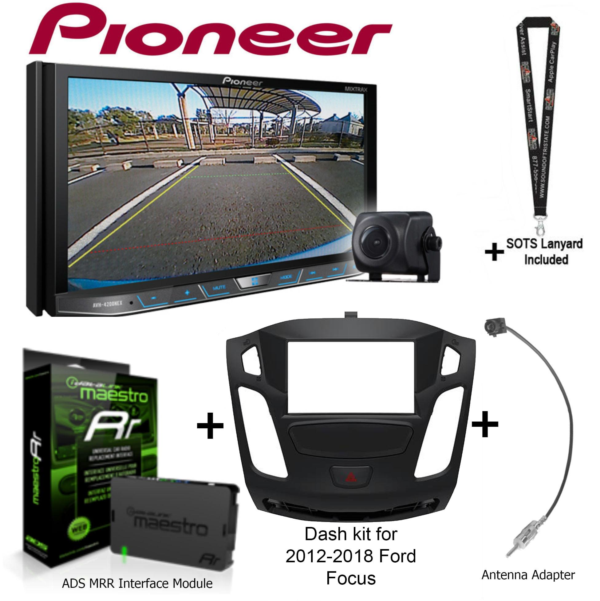 "Pioneer AVH-4201NEX 7"" DVD Receiver, iDatalink Maestro KIT-FOC1 Dash kit for 2012-2018 Ford Focus, ADS-MRR... by Pioneer"