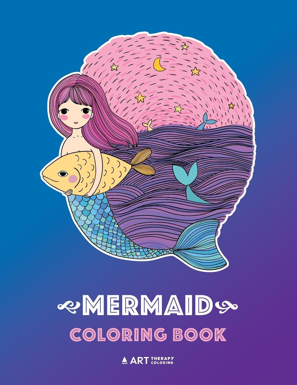 Mermaid Coloring Book : Cute Mermaid Coloring Book For ...