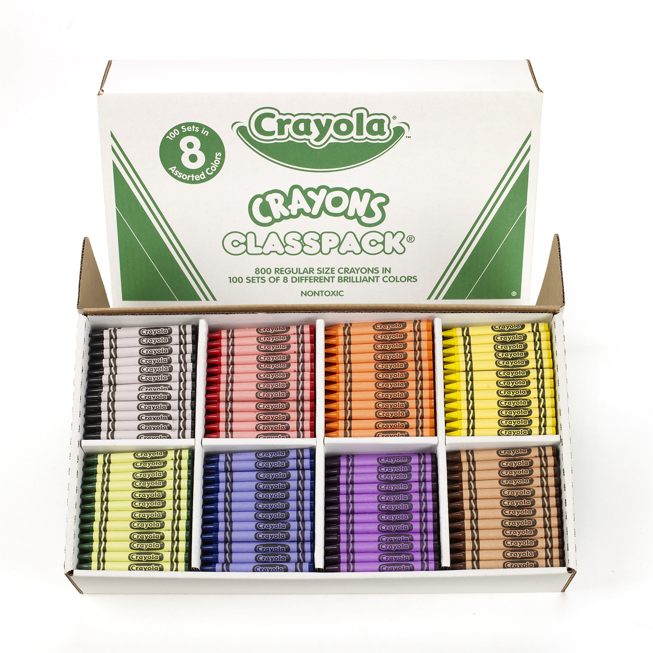 Crayola® Crayon Classpack, 8 Colors, Pack of 800