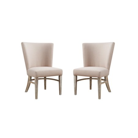 Emerald Home Synchrony Pearl Upholstered Dining Chair With Rounded Back  Set Of Two
