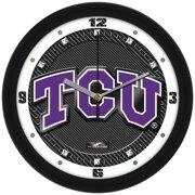Suntime ST-CO3-TCU-CFCLOCK Texas Christian Horned Frogs-Carbon Fiber Textured Wall Clock
