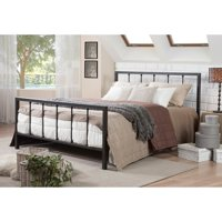 Baxton Studio Amy Vintage Industrial Black Finished Metal Platform Bed, Multiple Sizes