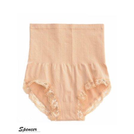 3a3401b46db3f Spencer - SPENCER Women High Waist Tummy Shapewear Body Control Slim Shaper  Panty Girdle Underwear Apricot - Walmart.com