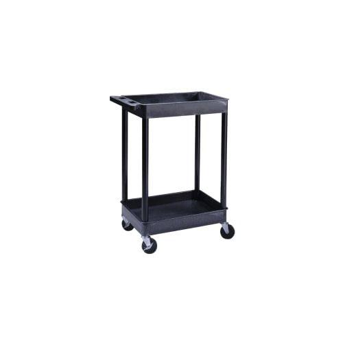 Luxor TC11 2-Shelf Plastic Utility Cart