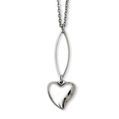 Stainless Steel Heart Y 18 Inch Chain Necklace Pendant Charm S/love Fashion Jewelry Gifts For Women For Her - image 6 de 6