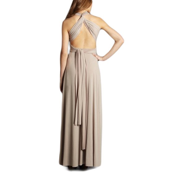 Von Vonni Von Vonni Womens Nude Plus Size Transformer Dress Long