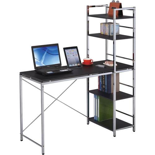 Elvis Student Computer Desk, Black and Chrome