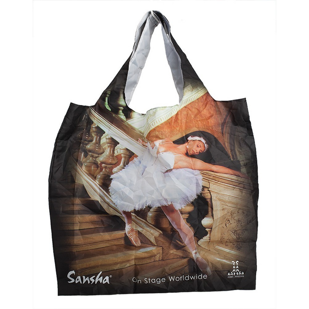 "Sansha Foldable Ballerina 15"" x 15"" Shopping Bag"