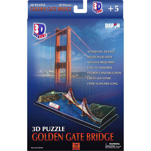 3D Puzzle, Golden Gate Bridge, 20 pcs