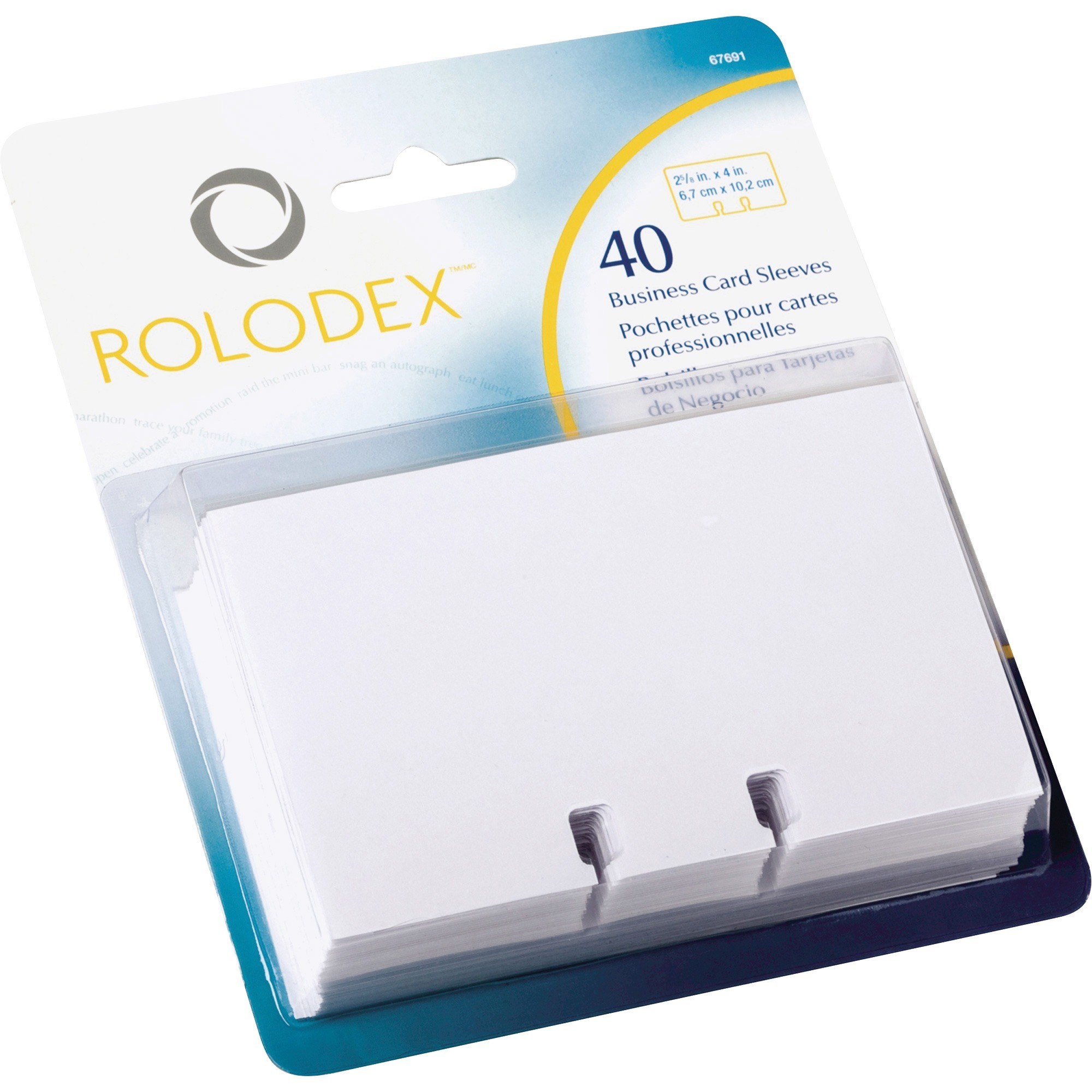 Rolodex Business Card File Refill Sleeves - Walmart.com